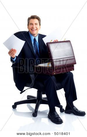 Smiling Handsome Businessman