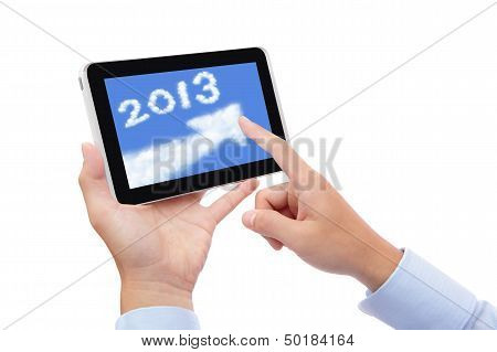 Tablet Pc Computer With 2013 Text
