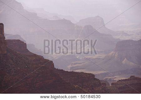 Hazy Canyon Scenery