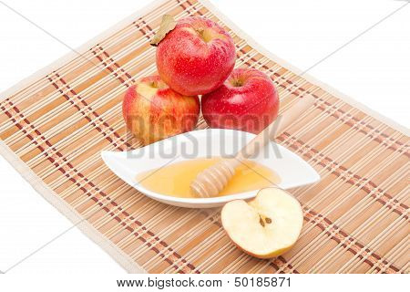 Sliced Apple And Honey Dipper