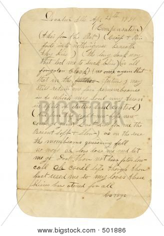 Love Letter From 1881