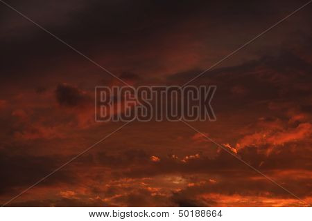 Fire Red Sky Background