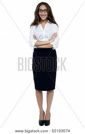Bespectacled Business Executive In Formals