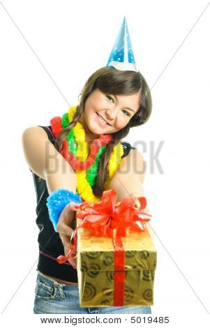 Girl Giving Us A Present