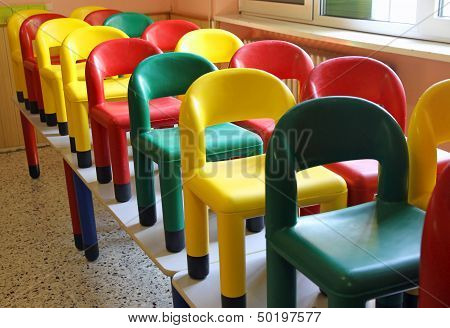 Chairs On The Tables Of The Refectory Of Asylum During The Cleaning 3