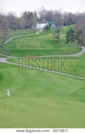 Campo de golfe e clube