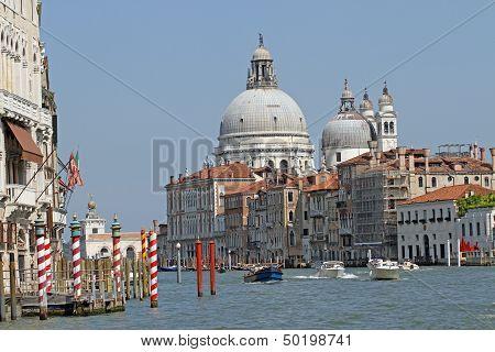 Dome Of The Church Of The Madonna Della Salute Near Of San Marco In Venice