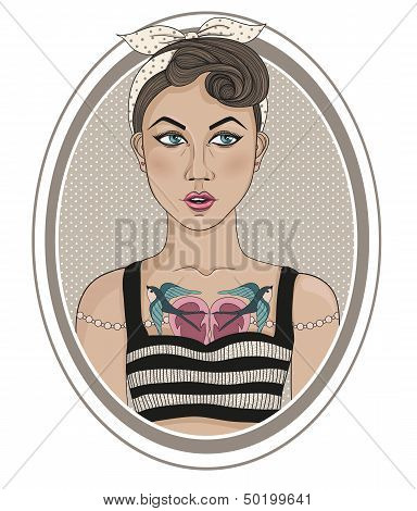 Cute Rockabilly Style Fashion Girl