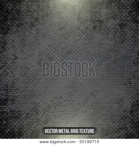 Metal black vector grid