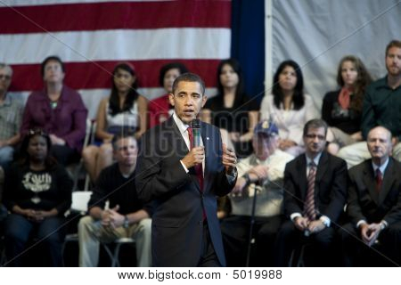 Barack Obama Speaking At A Town Hall
