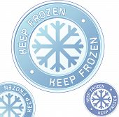 image of frozen food  - Keep frozen food product label sticker for use in websites print materials and product packaging - JPG