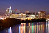 stock photo of charter oak park  - Skyline of downtown Hartford - JPG