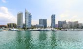 picture of ski boat  - A view of the beautiful Marina in Zaitunay Bay in Beirut Lebanon - JPG