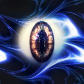pic of hypnotic  - Abstract scary 3d eyeball of a monster Halloween background - JPG