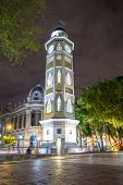 picture of bolivar  - downtown night scene guayaquil ecuador south america - JPG