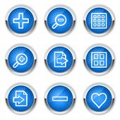 Image viewer web icons set 1, blue buttons