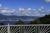 picture of west indies  - Terrace over the Bay of Fort de France - JPG