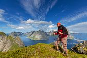 foto of lofoten  - hike in Lofoten - JPG