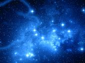 picture of nebula  - Blue space star nebula - JPG