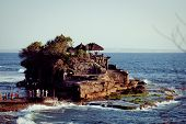 image of tanah  - Tanah Lot Temple on Sea in Bali Island Indonesia - JPG