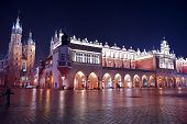 picture of medieval  - Krakow Medieval Main Square - JPG