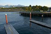 image of olympic mountains  - Port Angeles WA Harbor - JPG