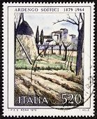 ITALY - CIRCA 1979: a stamp printed in Italy celebrates the first centenary of  the birth of  painte