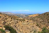 picture of san fernando valley  - East overlook of San Fernando Valley from Rocky Peak Trails Santa Susana Mountains CA - JPG