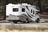 stock photo of recreational vehicles  - Class C Motorhome  - JPG