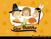 stock photo of pie-in-face  - Thanksgiving Greeting - JPG