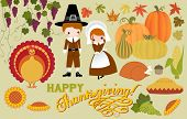stock photo of turkey dinner  - Thanksgiving Symbols and Icons - JPG