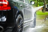pic of pressure-wash  - Car Washing on Back Yard - JPG