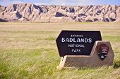 picture of prairie  - Badlands Entrance Sign - JPG