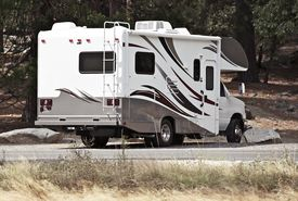 stock photo of recreational vehicle  - Class C Motorhome  - JPG
