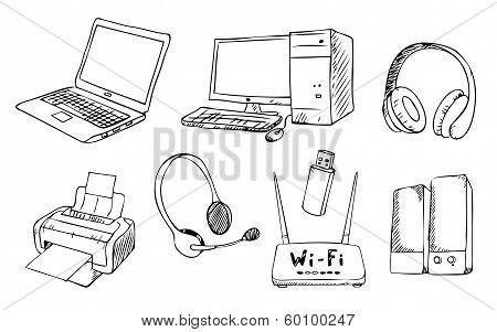 Computer Technology Vector Set
