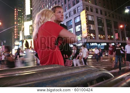 Times Square Young Couple