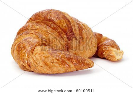 a croissant on a white background