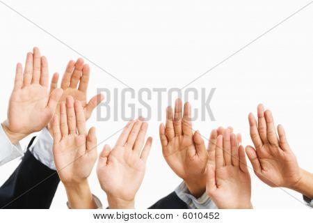 Heben Sie Hand