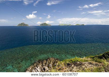 View of Mamanuca Group islands, Fiji