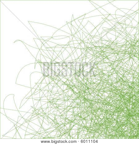 Green Spirals on white