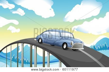 Illustration of a car at the road