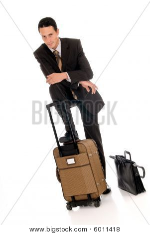 Businessman Briefcase Umbrella