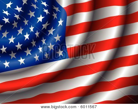 Vector American Flag New