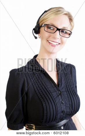 Smart Female Call Center Operator