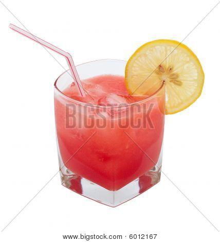 A Glass With A Watermelon Juice