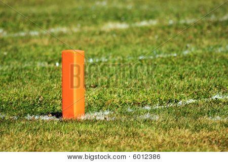Football Goal Line Orange Marker