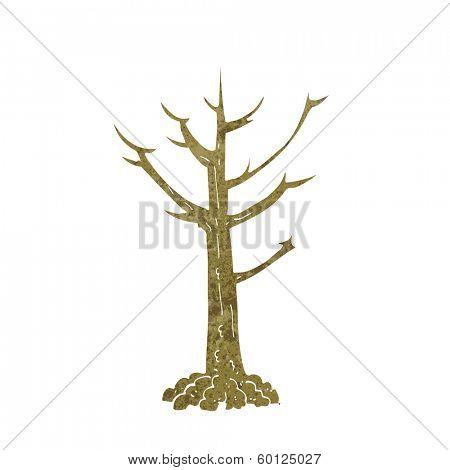 cartoon naked tree