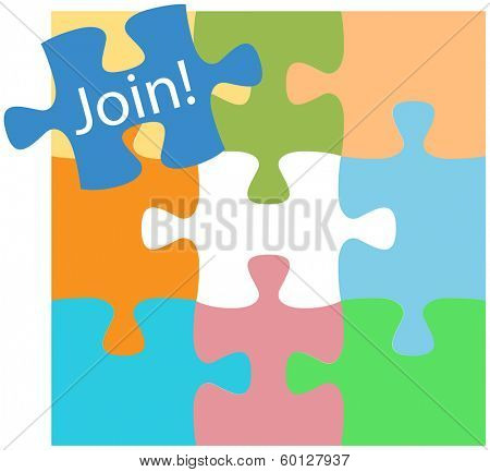 Missing piece joins business or social pieces to complete the puzzle