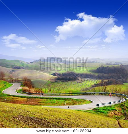 Tuscany scenery. Travel in Italy series