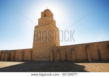 The Minaret Of The Great Mosque From  Kairouan